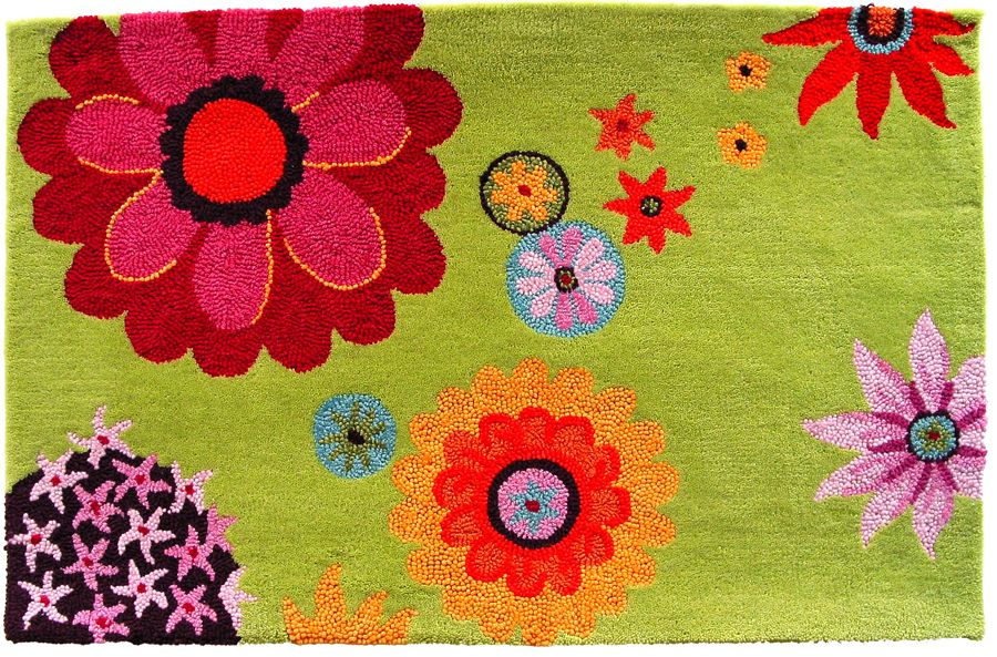 homefires flower daze contemporary area rug collection