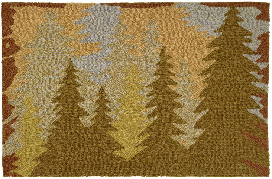 homefires mountain pines contemporary area rug collection