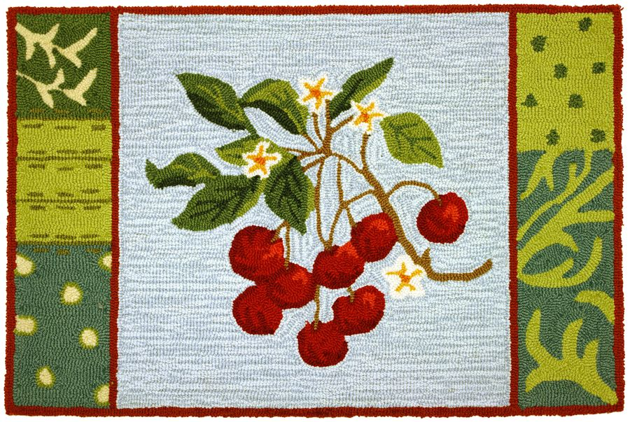 homefires cherry with blossoms contemporary area rug collection