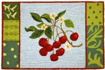 Homefires Contemporary Cherry With Blossoms Area Rug Collection