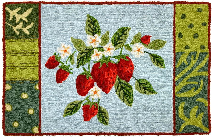 homefires blooming berries contemporary area rug collection