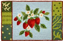Homefires Contemporary Blooming Berries Area Rug Collection