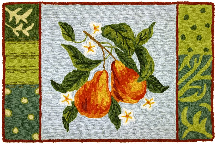 homefires blooming pear contemporary area rug collection