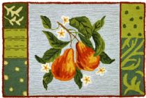 Homefires Contemporary Blooming Pear Area Rug Collection