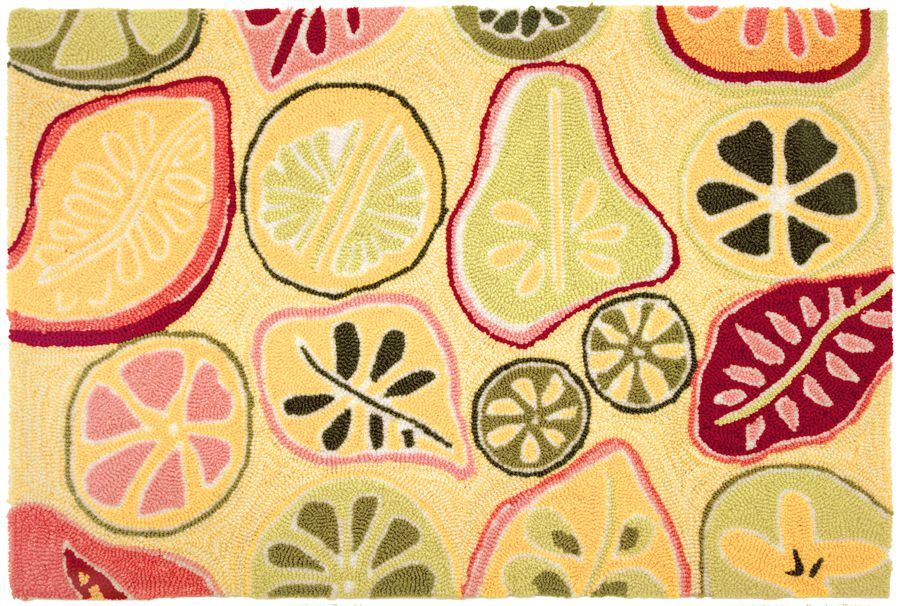 homefires mod fruit contemporary area rug collection
