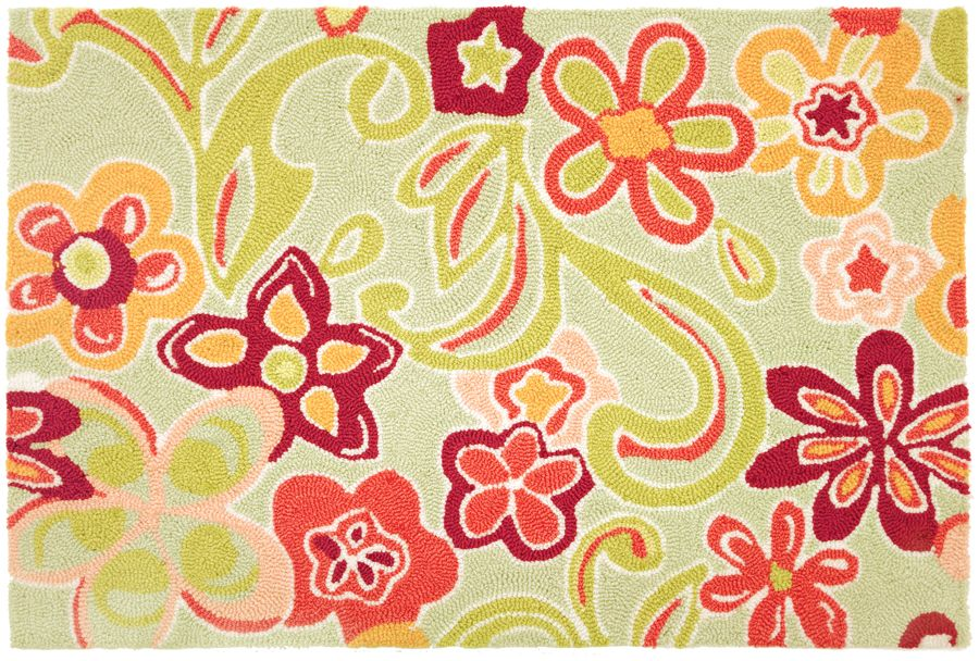 homefires hippie flowers contemporary area rug collection