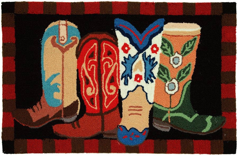 homefires boot scootin southwestern/lodge area rug collection