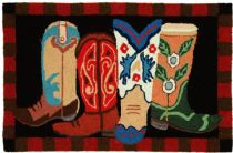 Homefires Southwestern/Lodge Boot Scootin Area Rug Collection