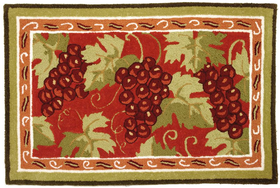homefires provence grapes contemporary area rug collection
