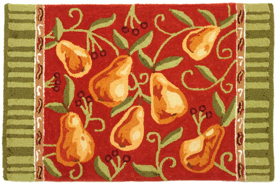 homefires provence pears contemporary area rug collection