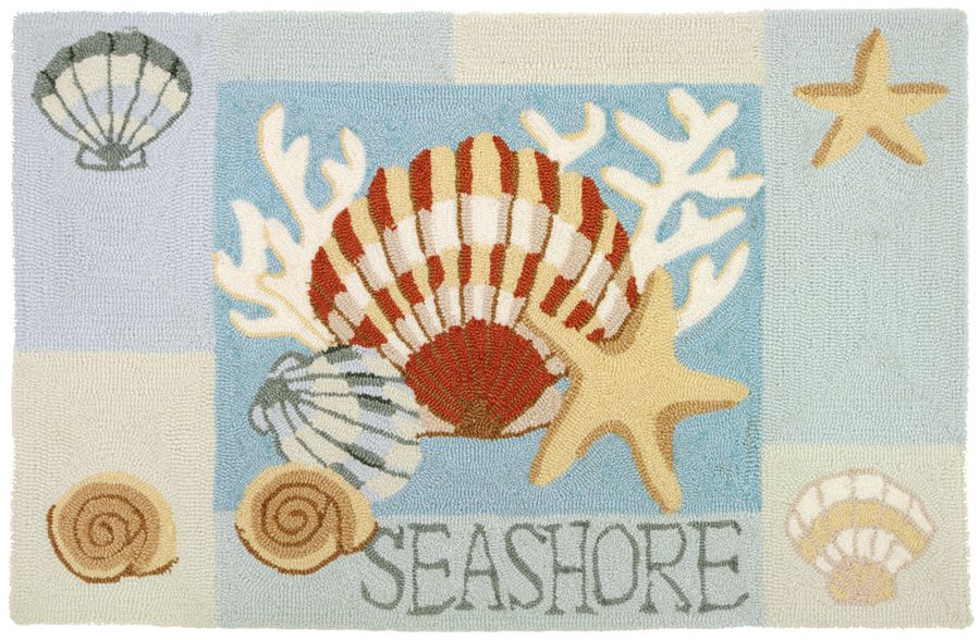 homefires key west clam shell contemporary area rug collection