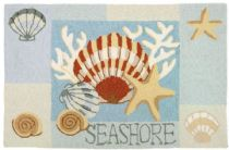 Homefires Contemporary Key West Clam Shell Area Rug Collection