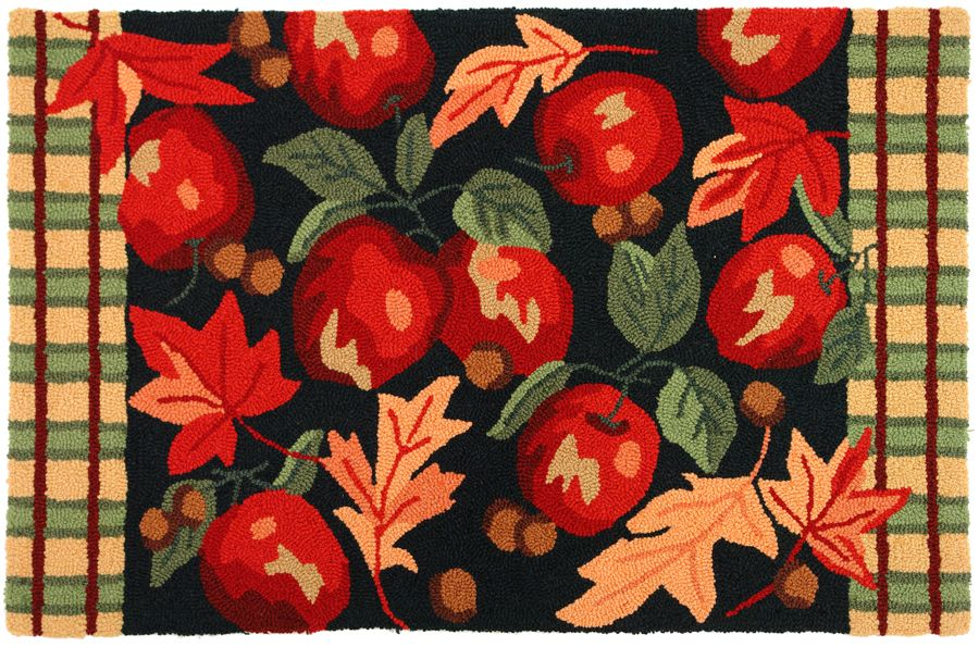 homefires apple orchard contemporary area rug collection
