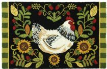 Homefires Contemporary White Leghorn Area Rug Collection