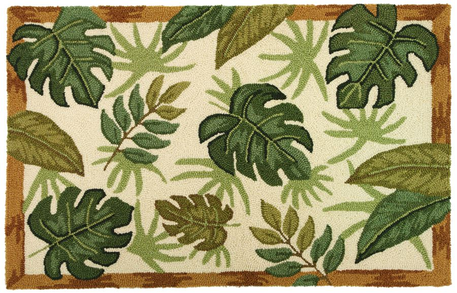 homefires tropical foliage contemporary area rug collection