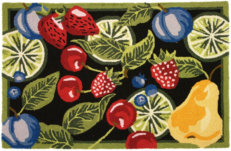 homefires fresh fruit contemporary area rug collection