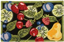 Homefires Contemporary Fresh Fruit Area Rug Collection