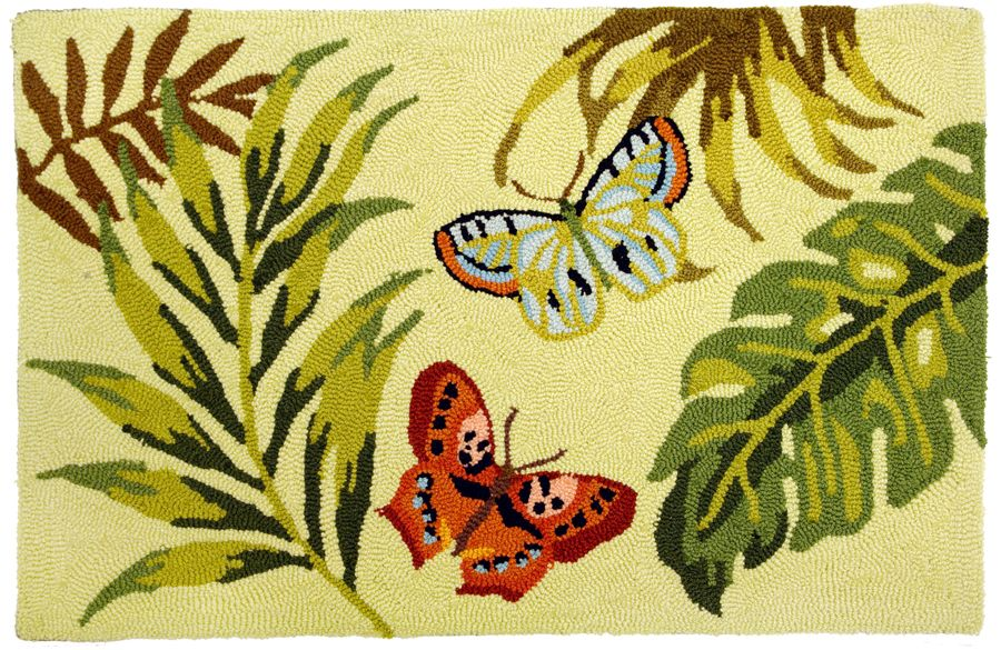 homefires bamboo butterfly contemporary area rug collection
