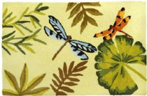 Homefires Contemporary Bamboo Dragonfly Area Rug Collection