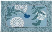 Homefires Contemporary Blue Butterfly Area Rug Collection