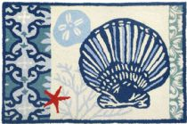 Homefires Contemporary Italian Tile With Clam Shell Area Rug Collection