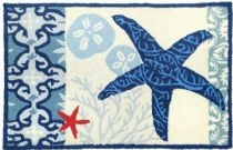 Homefires Contemporary Italian Tile With Starfish Area Rug Collection