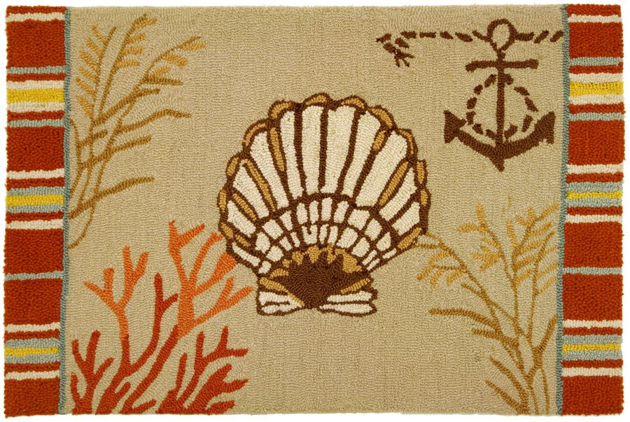 homefires by the sea clam shell contemporary area rug collection