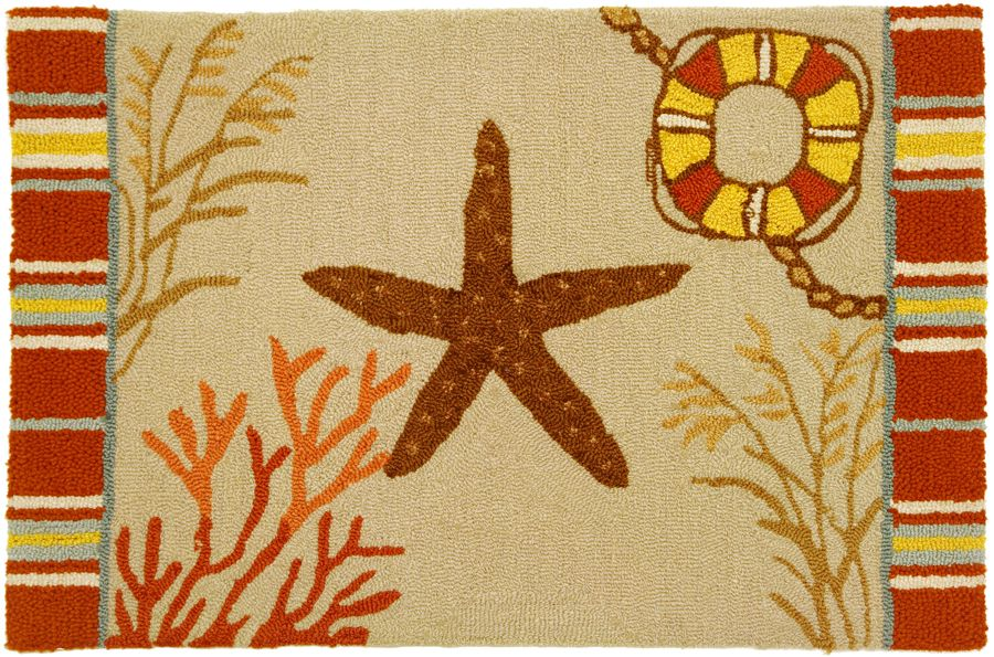 homefires by the sea starfish contemporary area rug collection