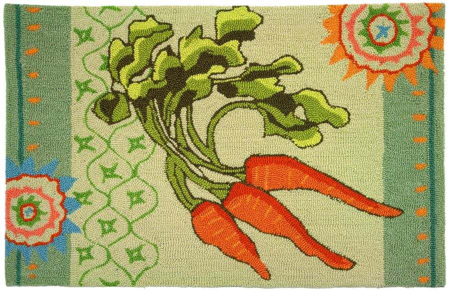 homefires garden carrots contemporary area rug collection