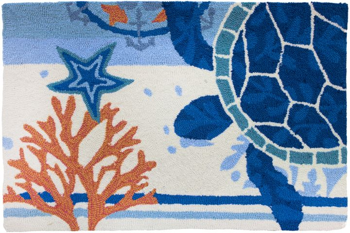 homefires turtle medallion contemporary area rug collection