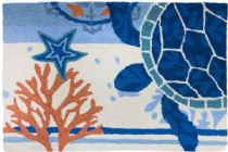 Homefires Contemporary Turtle Medallion Area Rug Collection