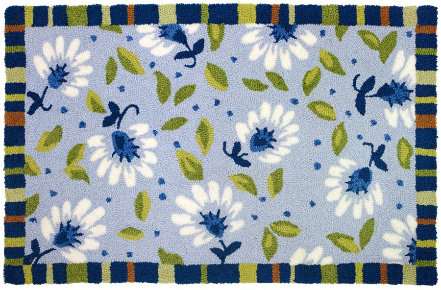homefires blue morning contemporary area rug collection
