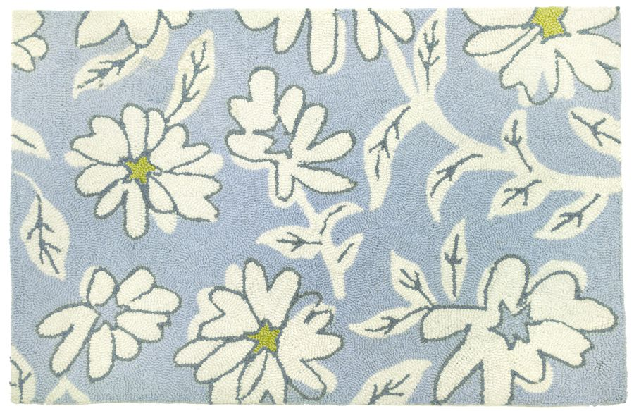 homefires white daisies contemporary area rug collection