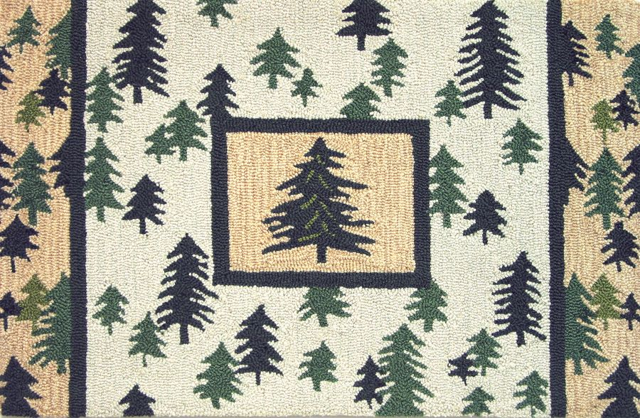 homefires pine forest contemporary area rug collection