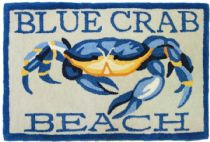 Homefires Contemporary Blue Crab Beach Area Rug Collection