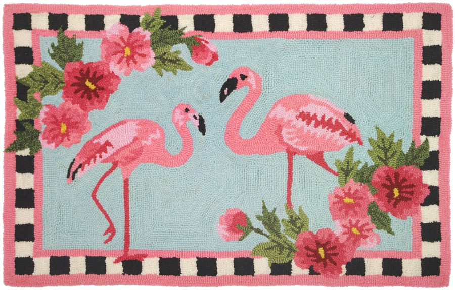 homefires flirty flamingos contemporary area rug collection