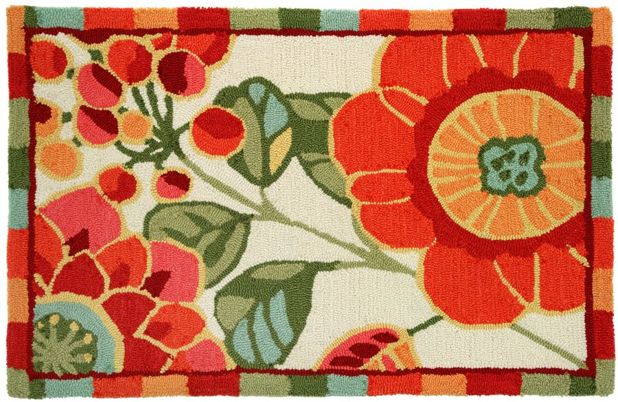 homefires flower buds contemporary area rug collection