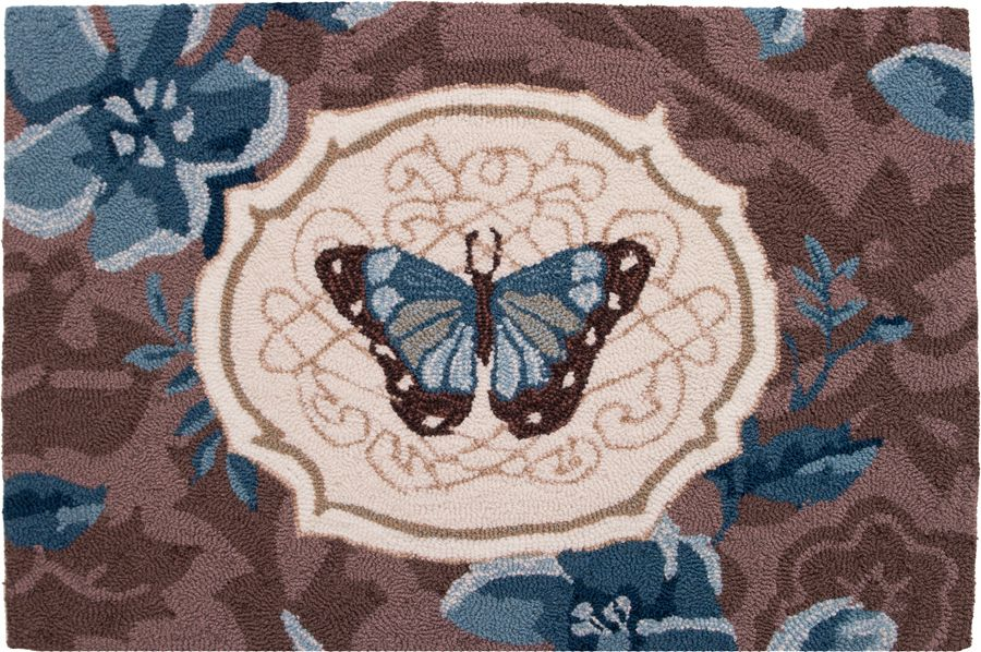 homefires butterfly bliss contemporary area rug collection