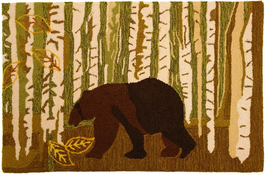 homefires birch and bear southwestern/lodge area rug collection