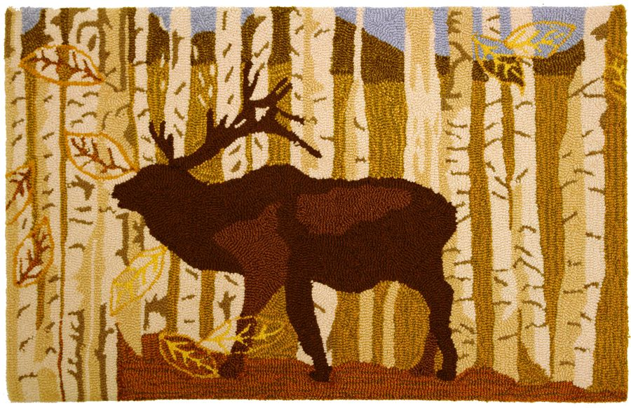 homefires birch & elk southwestern/lodge area rug collection