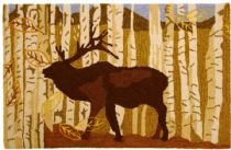 Rectangle Area Rug, Hand Hooked Rug, Contemporary, Birch & Elk, Homefires Rug