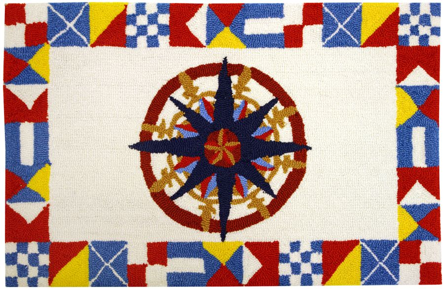 homefires nautical compass contemporary area rug collection