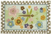 Homefires Contemporary Groovy Dragonfly Area Rug Collection