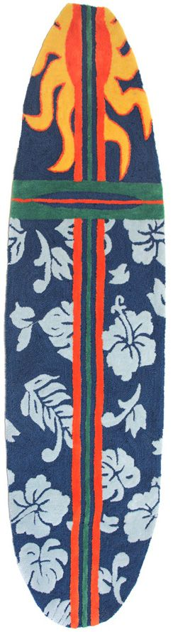 homefires surfboard - navy contemporary area rug collection
