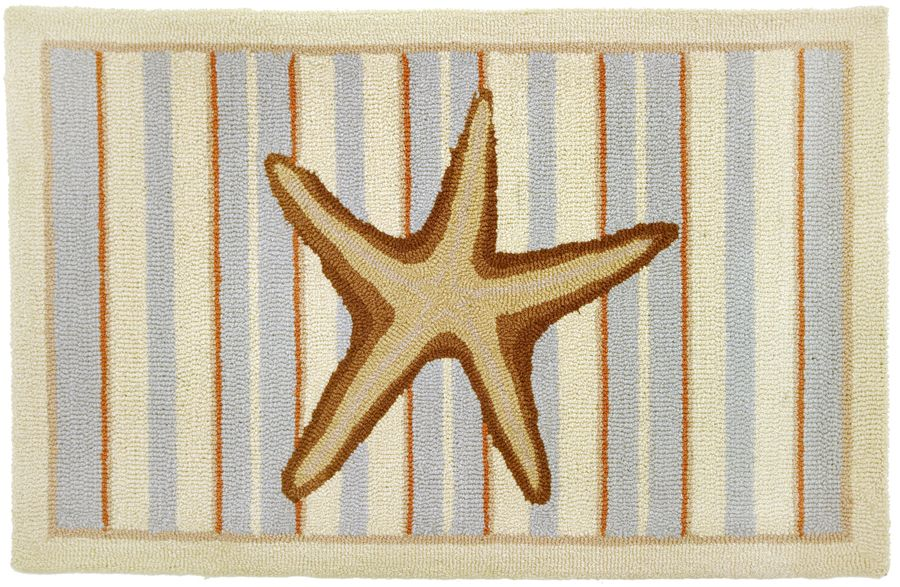 homefires starfish with stripes-neutrals contemporary area rug collection