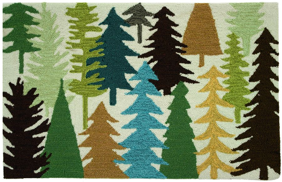 homefires woodland trees contemporary area rug collection