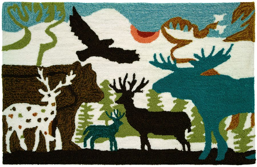 homefires forest dwellers contemporary area rug collection