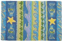 Homefires Contemporary Waves & Starfish Area Rug Collection