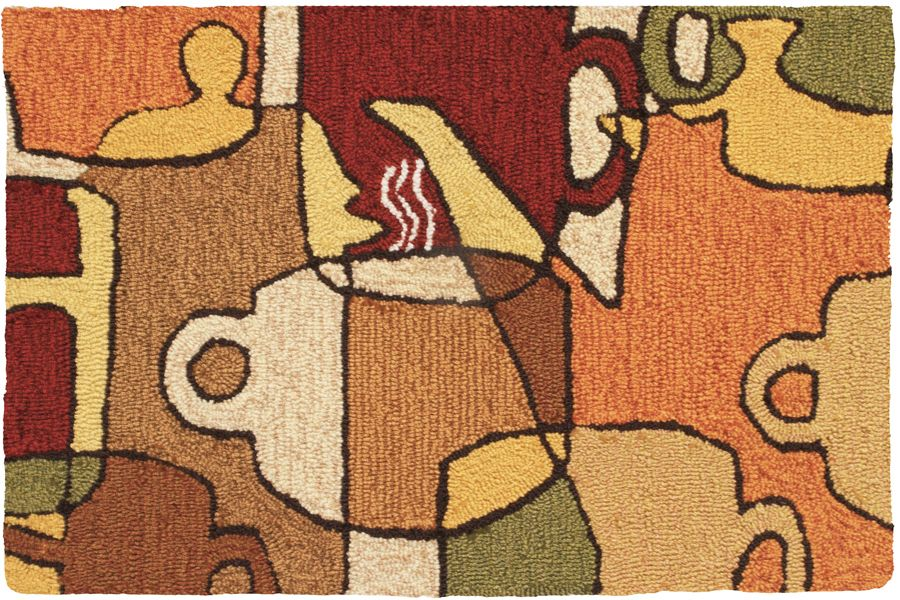 homefires coffee collage contemporary area rug collection