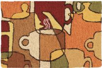 Homefires Contemporary Coffee Collage Area Rug Collection